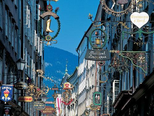 Einkaufsstraße Salzburg