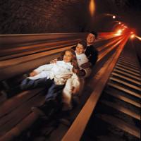 Bergmannsrutsche in den Salzwelten Hallstatt im Salzkammergut