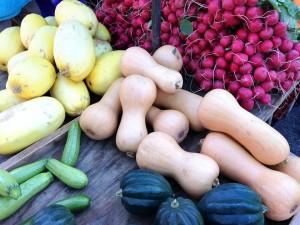 Frisches Gemüse am Bauernmarkt in Mondsee
