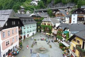 Zentrum von Hallstatt in Oberösterreich