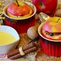 Bratäpfel mit Vanillesoße