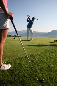 Golfspielen am Mondsee